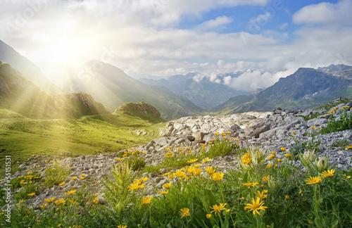 Leinwanddruck Bild Mountains landscape