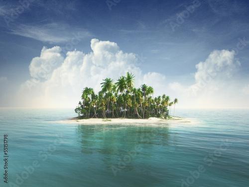 Leinwanddruck Bild Tropical island
