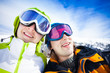 Snowboarders couple