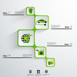 Eco green energy abstract web design