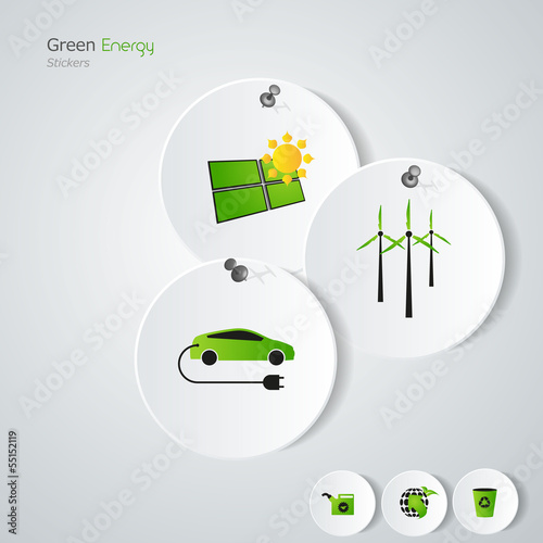 Green eco/ green energy / stickers