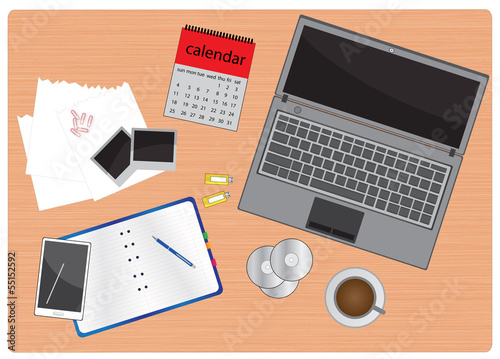 business work table vector images