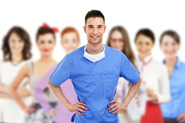 Hospital staff represented by both the medical profession in the
