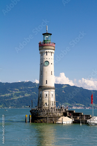 Lighthouse of Lindau in Lake Constance, Germany