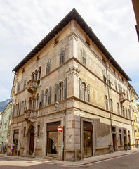 Trento-City centre old building color image