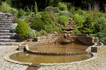 The Vesica Pool in the Chalice Well Gardens
