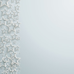 White Stars Christmas Design