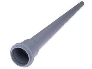 Grey PVC sewer pipe