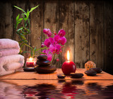 Fototapety massage - bamboo - orchid, towels, candles stones
