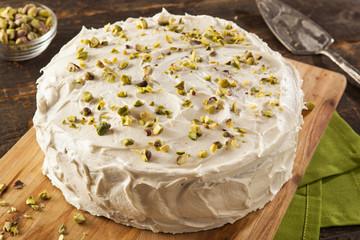 Homemade Gourmet Pistachio Cake