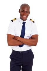 handsome african pilot