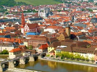 View of Würzburg in Summer