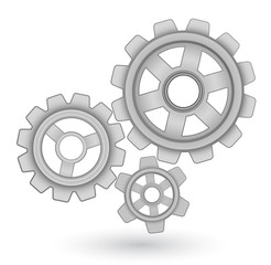 gears vector icon - abstract background concept