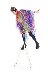Fashion conscious drag queen