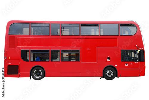 London Doppeldecker Bus rot