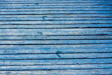 Blue Wooden Road