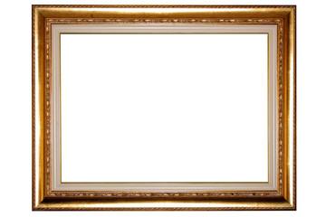 Cornice di quadro antico su sfondo bianco
