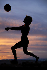 volleyball silhouette woman