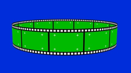 Film Negatives Loop With Green Screen