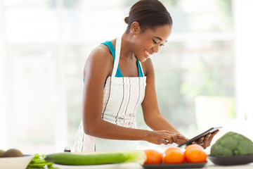 african woman searching for a recipe