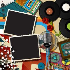 Music collage backound