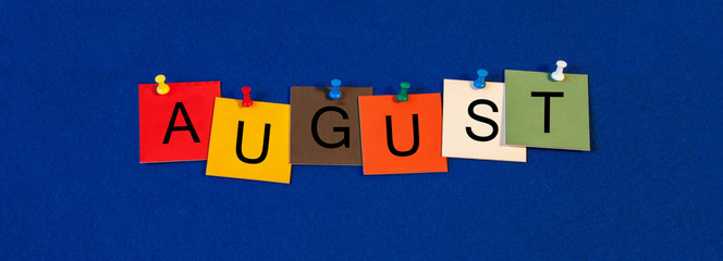 August - calendar and month series.