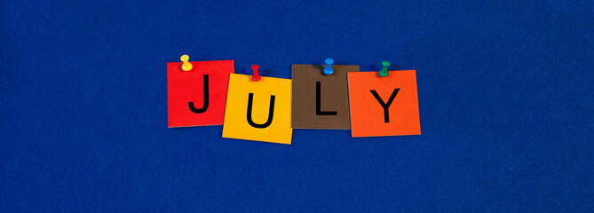July - calendar and month series.
