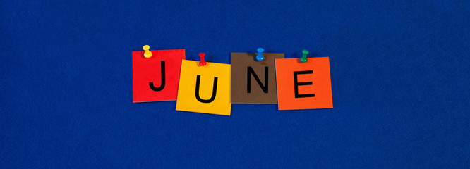 June - calendar and month series.