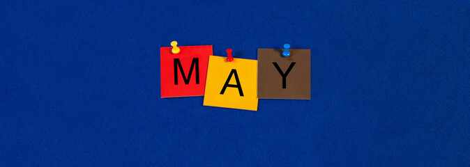 May - calendar and month series.