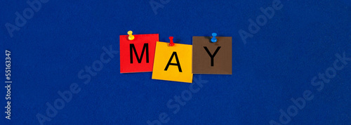 Leinwandbild Motiv May - calendar and month series.