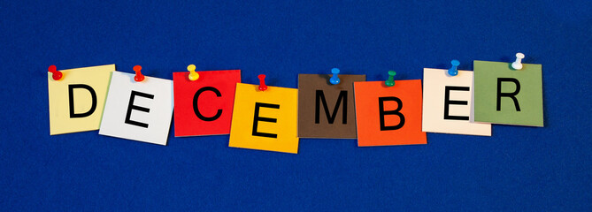 December - month sign series.