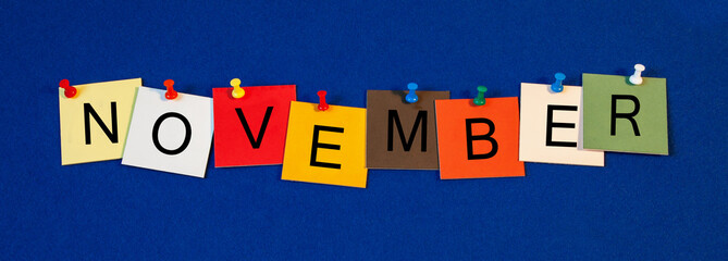 November - month sign series.