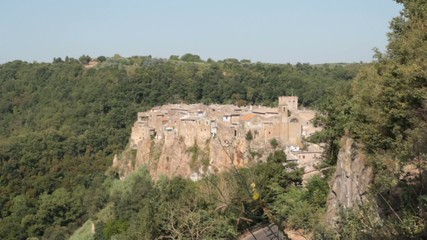 picturesque village overview, Calcata, Italy