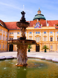 Fountain in the courtyard of Melk Abbey, Austria
