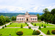 View over the garden at Melk Abbey, Austria