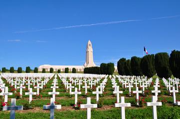Ossuaire de douaumont in Verdun, France