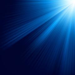 Blue luminous rays. EPS 10