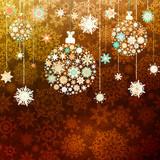 Gold christmas vector illustration. EPS 10