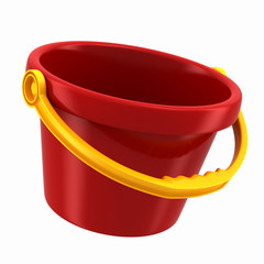 3d render of pail