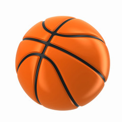 3d render of a basketball ball
