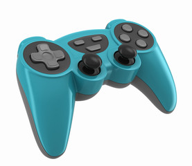 3d render of a gamepad for videogames