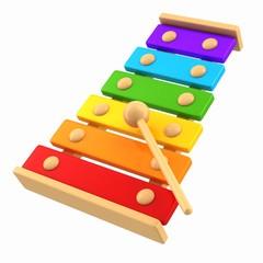 3d render of xylophone