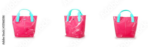 Elegant woman bag isolated on white