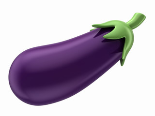 3d render of an eggplant