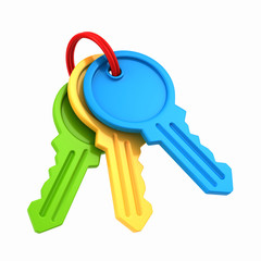 3d render of keys