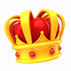 3d render of a crown