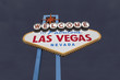 Las Vegas Welcome Sign with Dark Storm