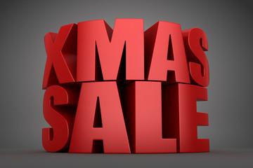 3d render of xmas sale word