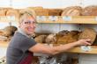brotverkauf in der bäckerei