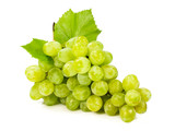 bunch of ripe green grapes
